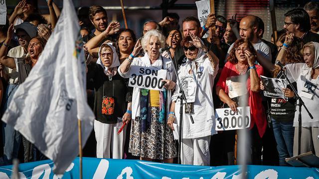41 años del Golpe genocida: discurso de los organismos de derechos humanos en Plaza de Mayo